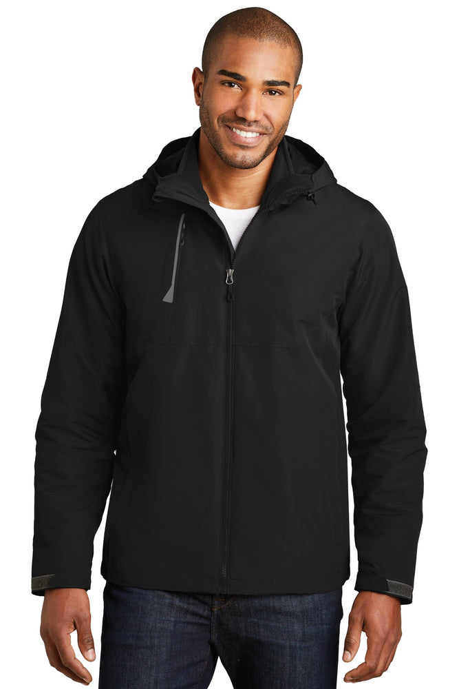 Port Authority® Merge 3-in-1 Jacket. J338 (Deep Black)