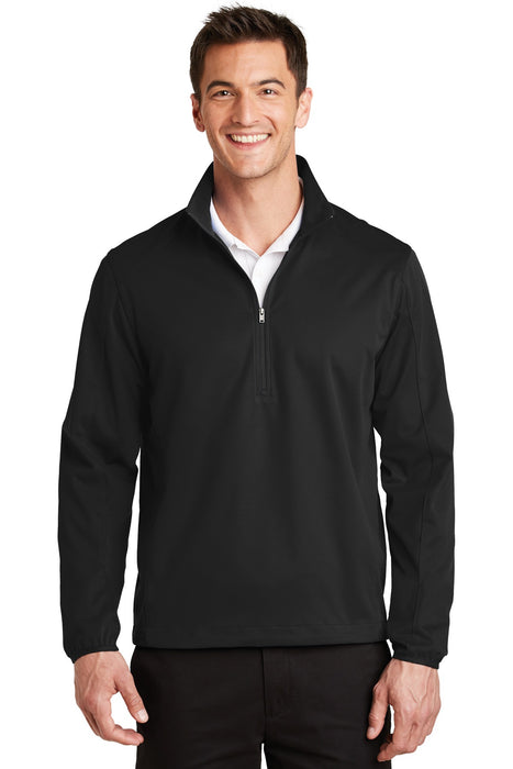 Port Authority® Active 1/2-Zip Soft Shell Jacket. J716 (Deep Black)