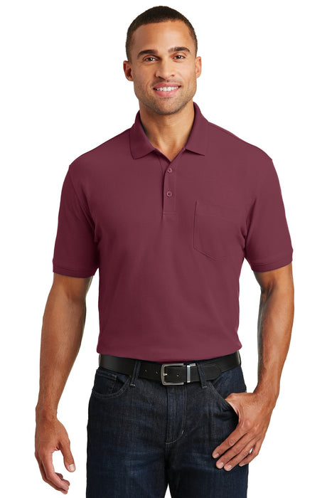Port Authority® Core Classic Pique Pocket Polo. K100P (Burgundy)