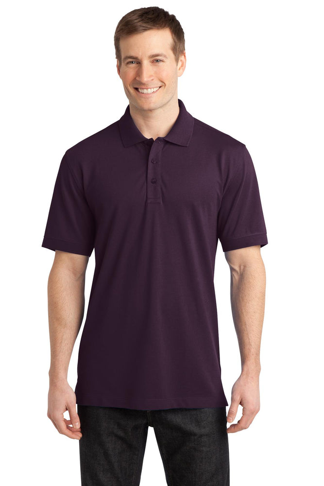 Port Authority® Stretch Pique Polo. K555 (Aubergine Purple)