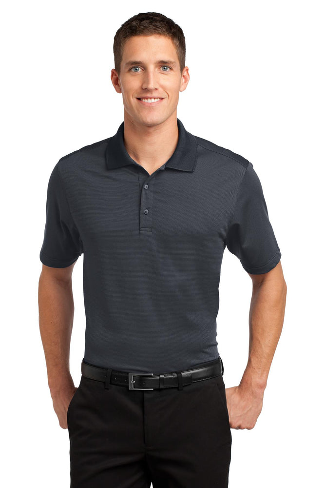 Port Authority® Fine Stripe Performance Polo. K558 (Graphite/Black)