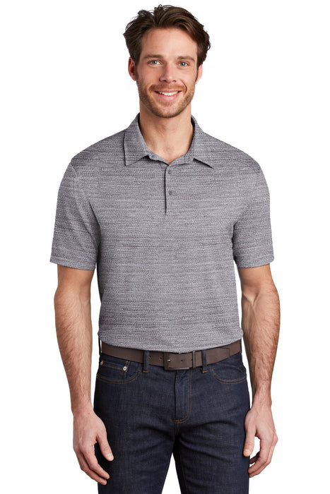 Port Authority ® Stretch Heather Polo K583 (Graphite/White)