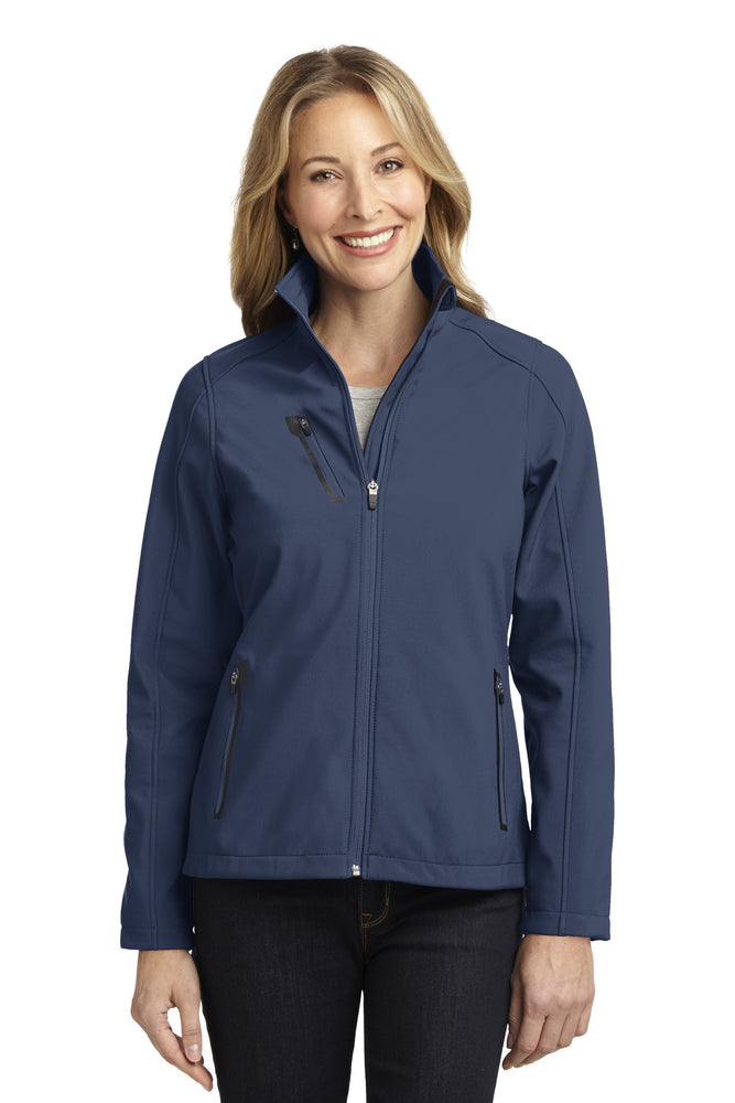 Port Authority® Ladies Welded Soft Shell Jacket. L324 (Dress Blue Navy)
