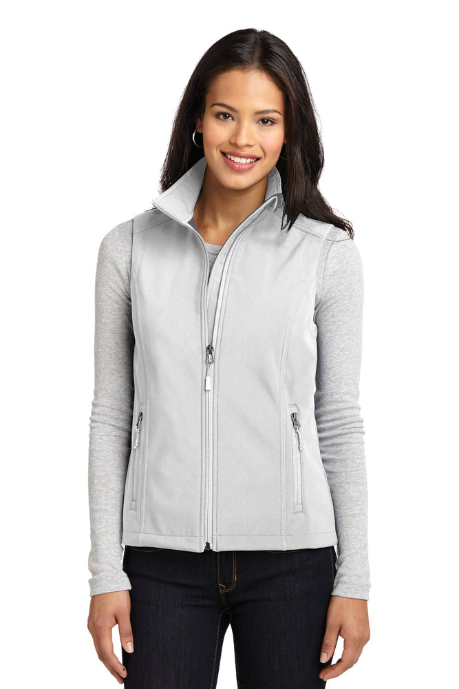 Port Authority® Ladies Core Soft Shell Vest. L325 (Marshmallow)