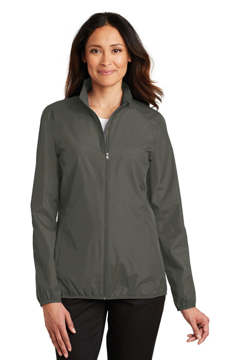 Port Authority® Ladies Zephyr Full-Zip Jacket. L344 (Grey Steel)