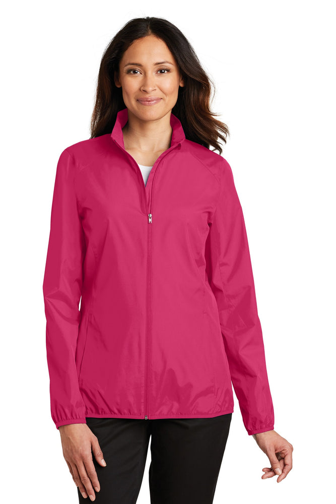 Port Authority® Ladies Zephyr Full-Zip Jacket. L344 (Pink Azalea)