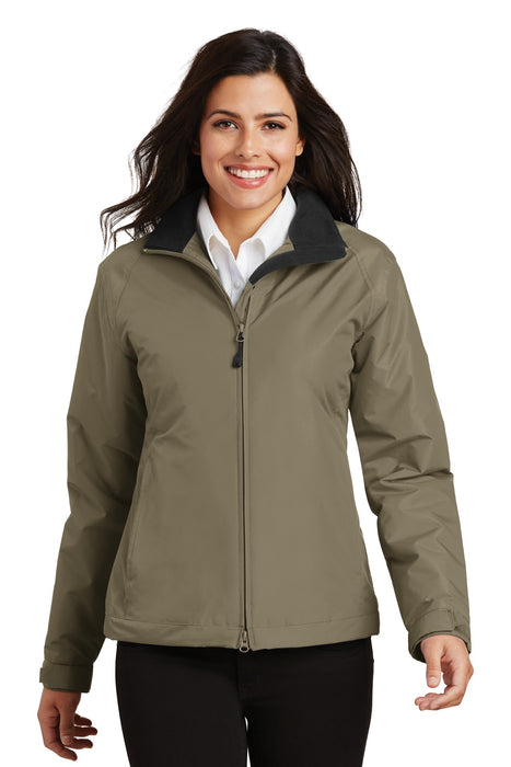 Port Authority® Ladies Challenger™ Jacket. L354 (Khaki/True Black)