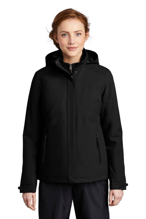 Port Authority ® Ladies Insulated Waterproof Tech Jacket L405 (Deep Black)