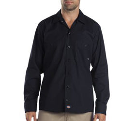 Product image of Black Dickies Occupational LL535 - Long Sleeve Industrial Work Shirt