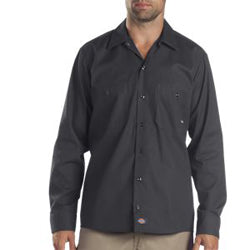 Product image of Dark Charcoal Dickies Occupational LL535 - Long Sleeve Industrial Work Shirt