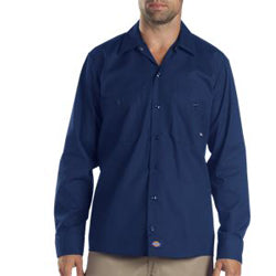 Product image of Dark Navy Dickies Occupational LL535 - Long Sleeve Industrial Work Shirt