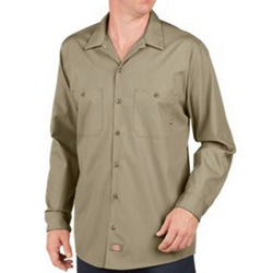 Product image of Desert Sand Dickies Occupational LL535 - Long Sleeve Industrial Work Shirt