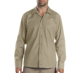 Product image of Khaki  Dickies Occupational LL535 - Long Sleeve Industrial Work Shirt