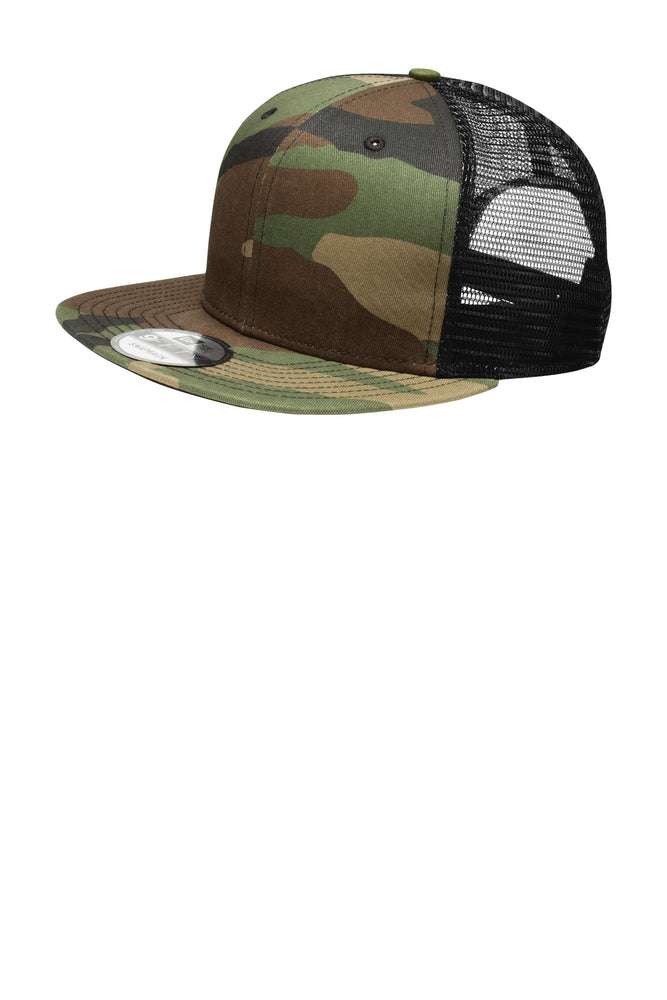 New Era® Original Fit Snapback Trucker Cap. NE403 (Camo/Black)