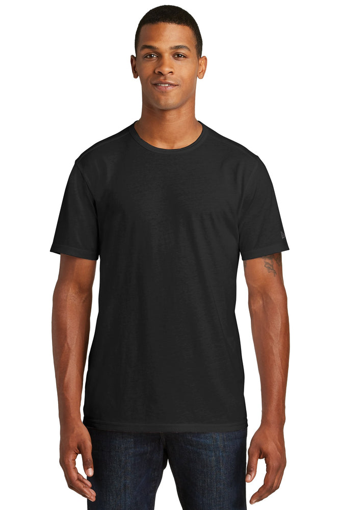 New Era ® Tri-Blend Performance Crew Tee. NEA130 (Black Solid)