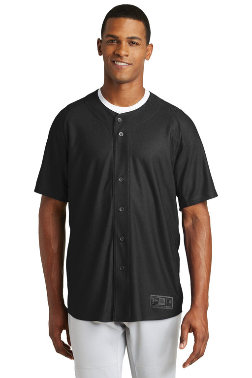 New Era ® Diamond Era Full-Button Jersey. NEA220 (Black)