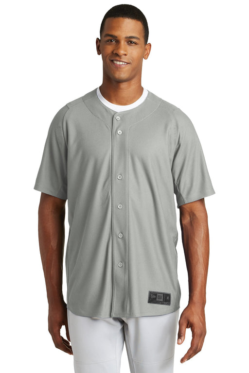New Era ® Diamond Era Full-Button Jersey. NEA220 (Grey)