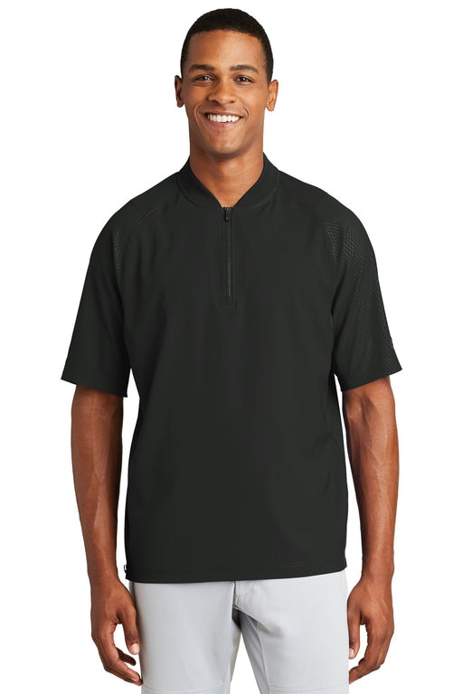 New Era ® Cage Short Sleeve 1/4-Zip Jacket. NEA600 (Black)