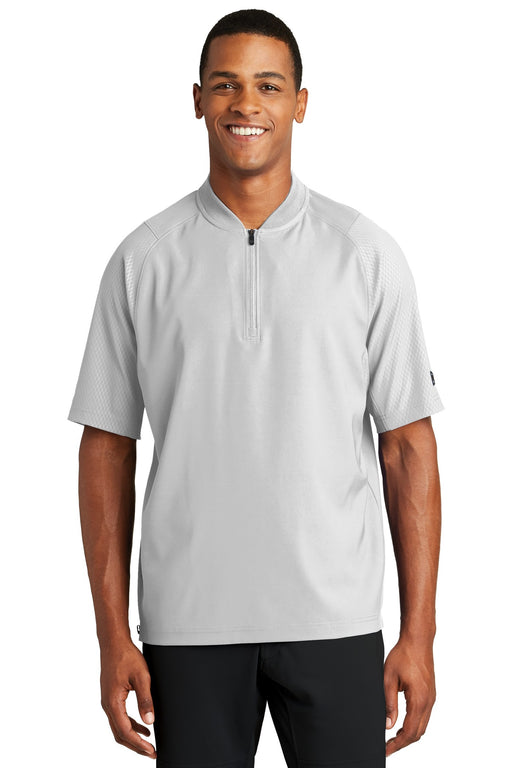 New Era ® Cage Short Sleeve 1/4-Zip Jacket. NEA600 (White)