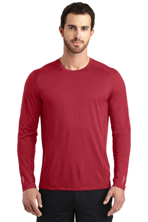 OGIO® ENDURANCE Long Sleeve Pulse Crew. OE321 (Ripped Red)