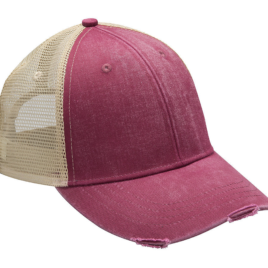 Product image of Burgundy/Tan Adams Headwear OL102 - Ollie