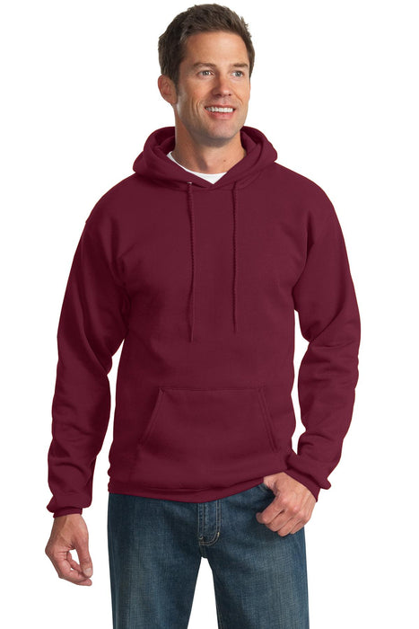 Port & Company® Tall Essential Fleece Pullover Hooded Sweatshirt. PC90HT (Cardinal)