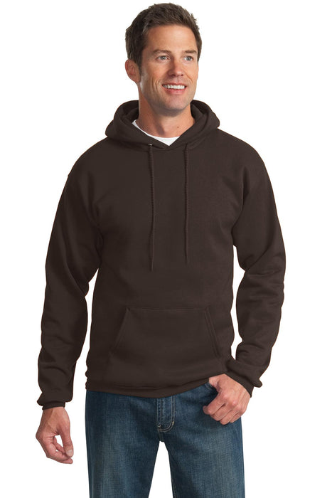 Port & Company® -  Essential Fleece Pullover Hooded Sweatshirt.  PC90H (Dark Chocolate Brown)