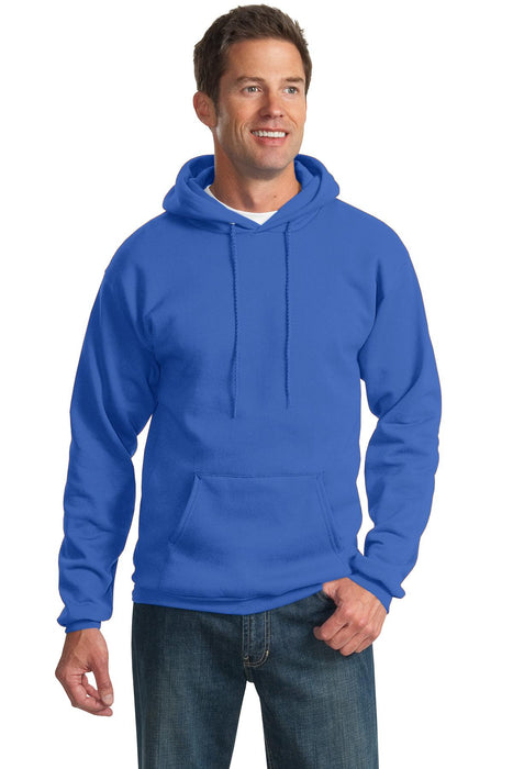 Port & Company® Tall Essential Fleece Pullover Hooded Sweatshirt. PC90HT (Royal)