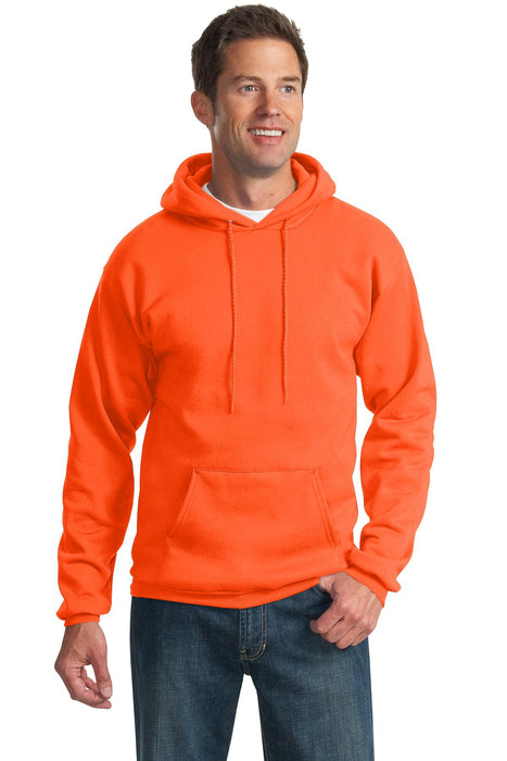 Port & Company® Tall Essential Fleece Pullover Hooded Sweatshirt. PC90HT (Safety Orange)