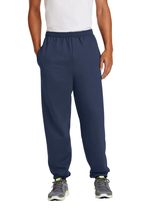 Port & Company® - Essential Fleece Sweatpant with Pockets.  PC90P (Navy)