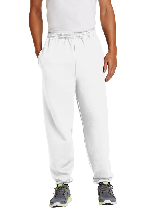 Port & Company® - Essential Fleece Sweatpant with Pockets.  PC90P (White)