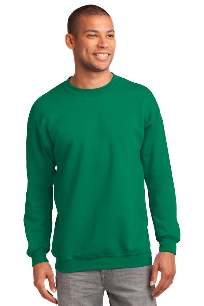 Port & Company® Tall Essential Fleece Crewneck Sweatshirt. PC90T (Kelly)