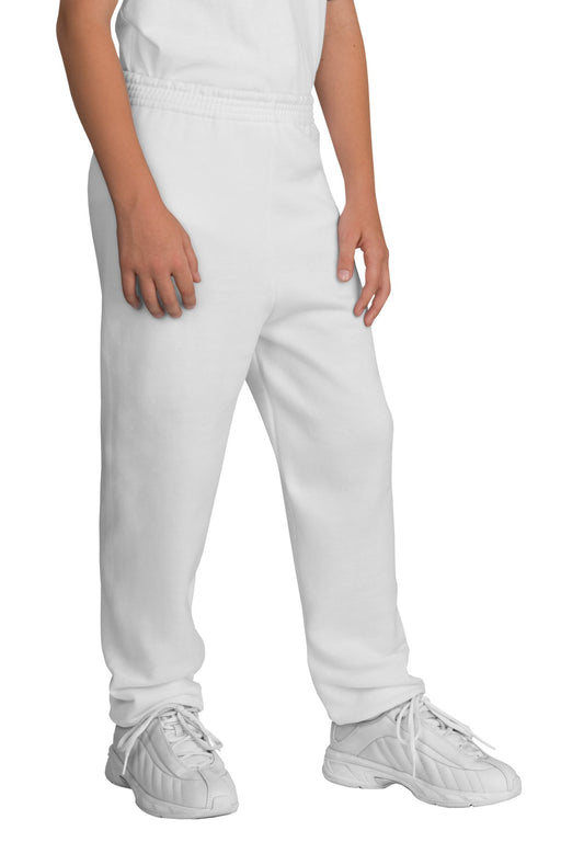 Port & Company® - Youth Core Fleece Sweatpant.  PC90YP (White)