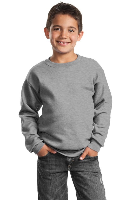 Port & Company® - Youth Core Fleece Crewneck Sweatshirt.  PC90Y (Athletic Heather)