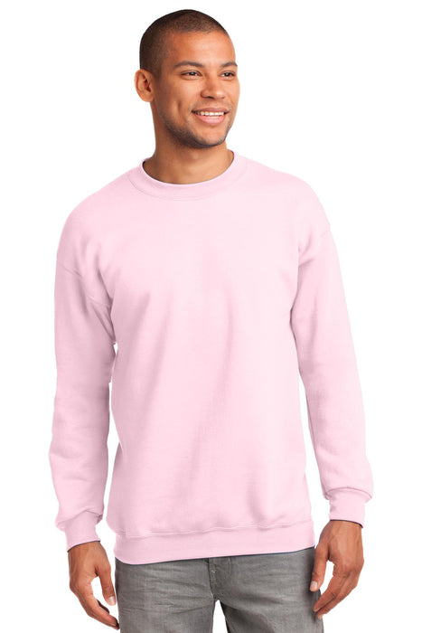 Port & Company® - Essential Fleece Crewneck Sweatshirt.  PC90 (Pale Pink)