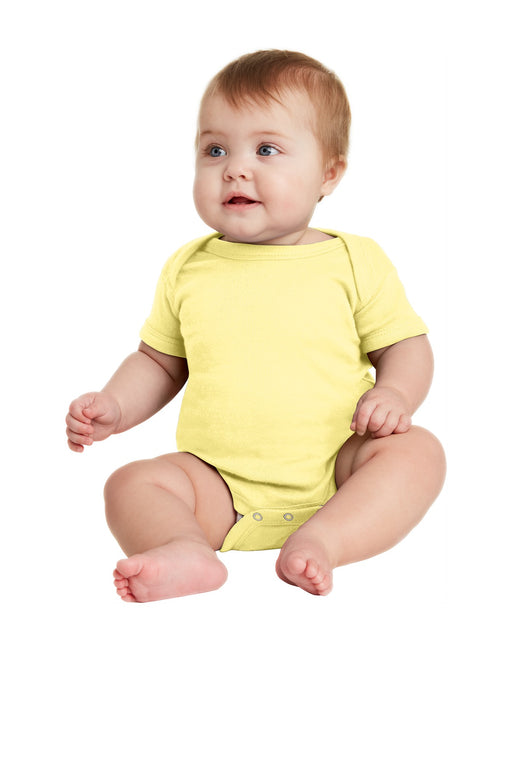 Rabbit Skins™ Infant Short Sleeve Baby Rib Bodysuit. RS4400 (Banana)
