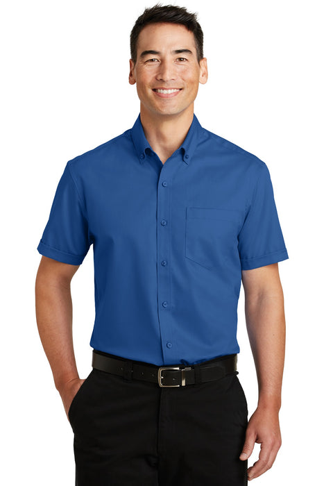 Port Authority® Short Sleeve SuperPro™ Twill Shirt. S664 (True Blue)
