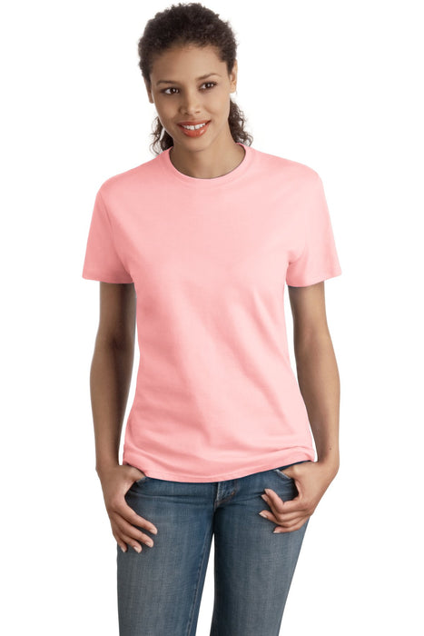 Hanes® - Ladies Nano-T® Cotton T-Shirt. SL04 (Pale Pink)