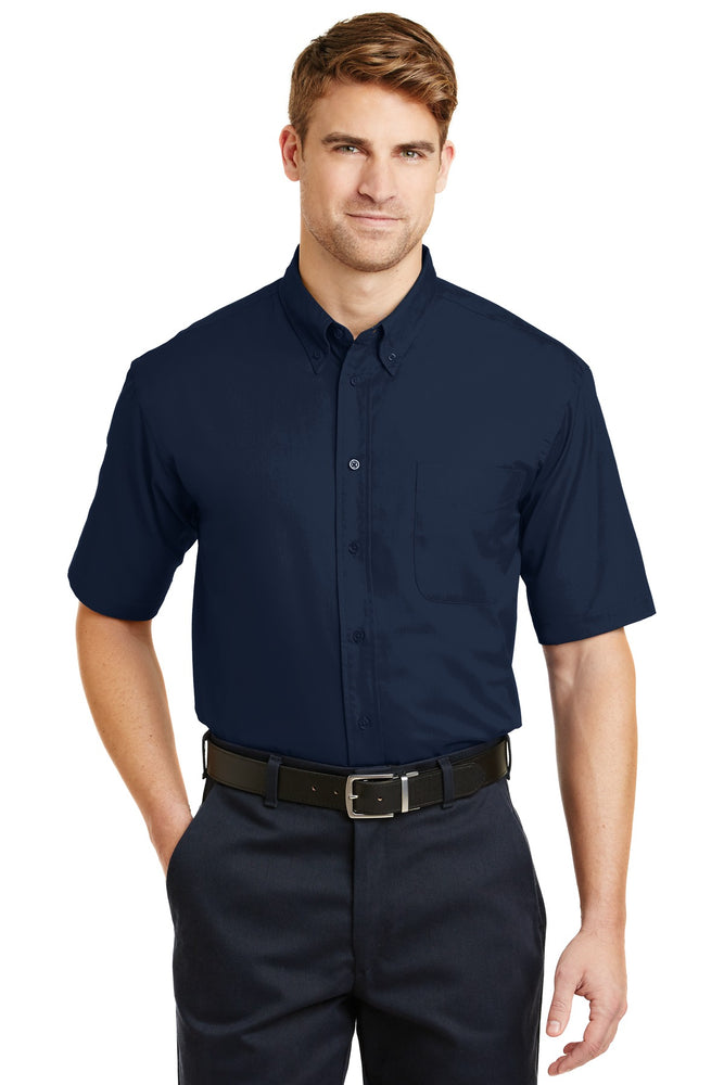 CornerStone® - Short Sleeve SuperPro™ Twill Shirt. SP18 (Navy)