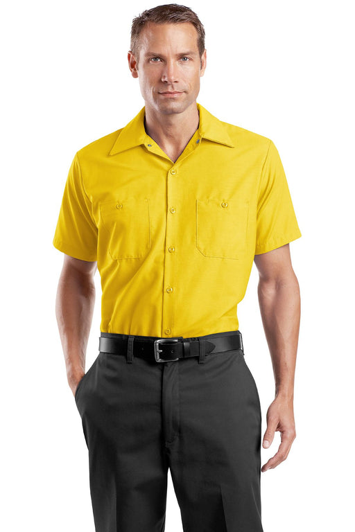 Red Kap® - Short Sleeve Industrial Work Shirt.  SP24 (Yellow)
