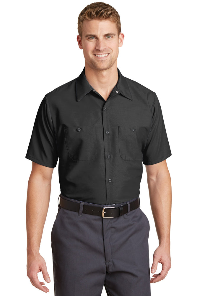 Red Kap® - Short Sleeve Industrial Work Shirt.  SP24 (Charcoal)