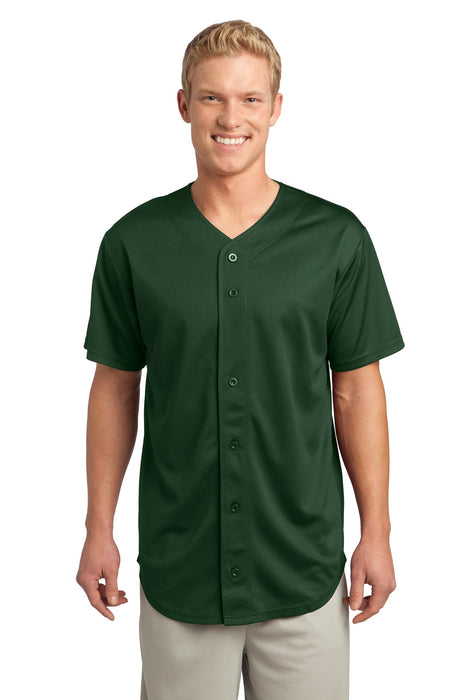 Sport-Tek® PosiCharge® Tough Mesh Full-Button Jersey. ST220 (Forest Green)
