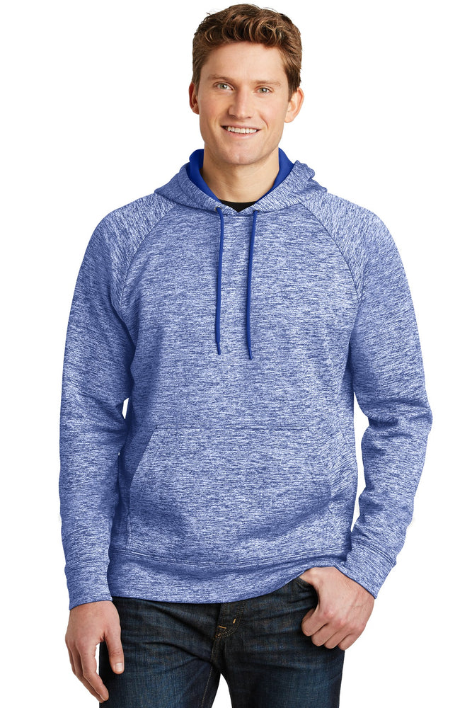 Sport-Tek® PosiCharge® Electric Heather Fleece Hooded Pullover. ST225 (True Royal Electric)