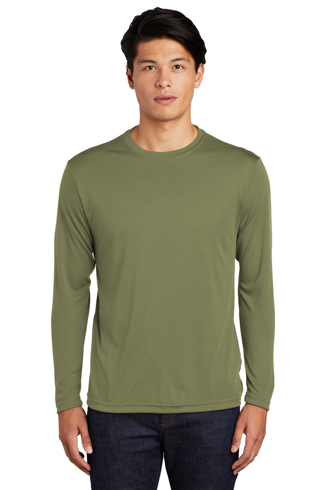 Sport-Tek® Long Sleeve PosiCharge® Competitor™ Tee. ST350LS (Olive Drab Green)