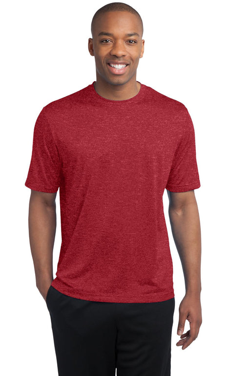 Sport-Tek® Tall Heather Contender™ Tee. TST360 (Scarlet Heather)