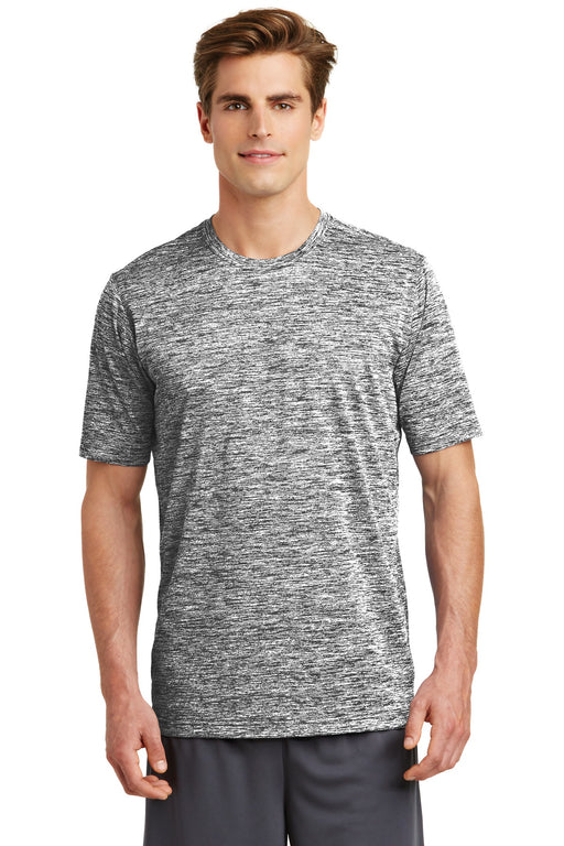 Sport-Tek® PosiCharge® Electric Heather Tee. ST390 (Black Electric)