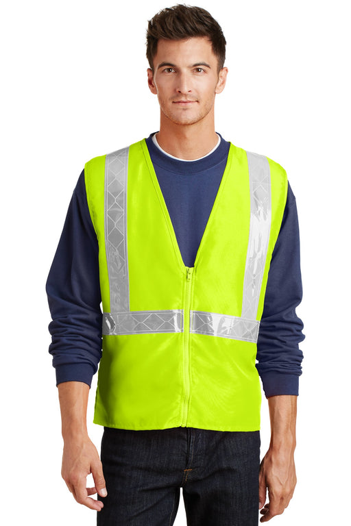 Port Authority® Enhanced Visibility Vest.  SV01 (Safety Yellow/Reflective)