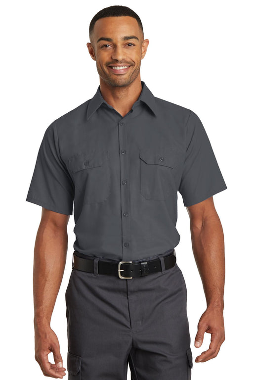 Red Kap® Short Sleeve Solid Ripstop Shirt. SY60 (Charcoal)