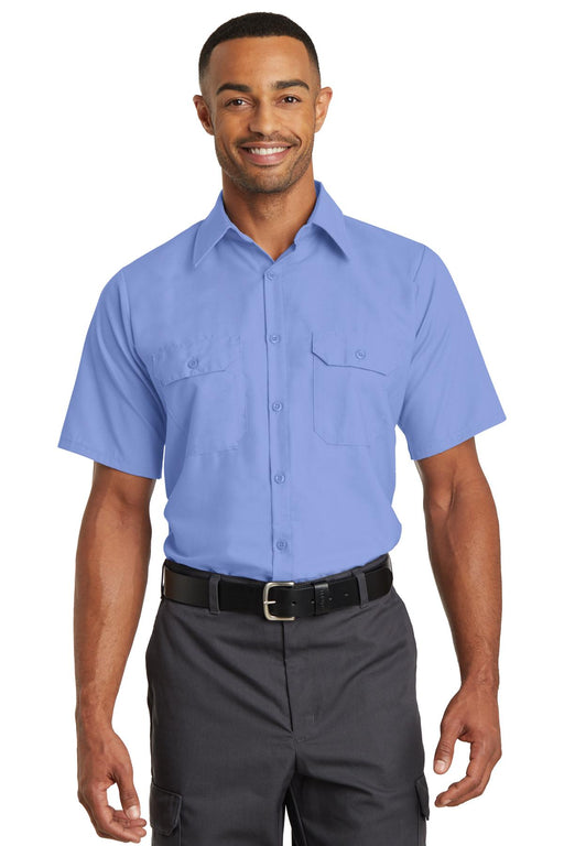 Red Kap® Short Sleeve Solid Ripstop Shirt. SY60 (Light Blue)
