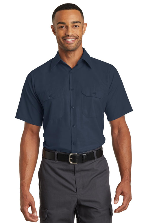 Red Kap® Short Sleeve Solid Ripstop Shirt. SY60 (Navy)